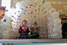 Milk jug igloo-classroom reading corner