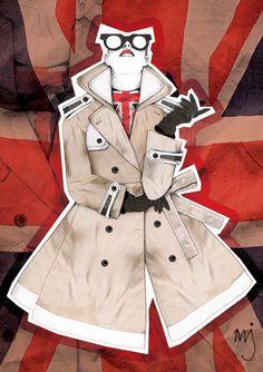 Rule Britannia Illustration - Milly Jackson #fashion #illustration #art #draw #drawing #graphic #sketch #sketching #woman #girl