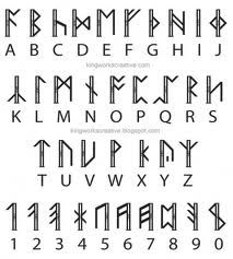 Discover thousands of images about From the Hobbit and LOTR! Dwarf Runes i think. Make the V's point smaller than the W's make the W's like the picture. Alphabet A, Alphabet Symbols, Rune Symbols, Symbols And Meanings, Viking Symbols, Viking Runes, Wiccan Runes, Ancient Alphabets, Ancient Symbols