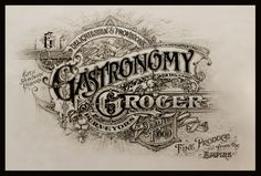 Gastronomy Grocer on Typography Served, by David Smith Typography Drawing, Typography Served, Typography Letters, Typography Logo, Types Of Lettering, Lettering Design, Simple Lettering, Type Fonts, Sign Writer