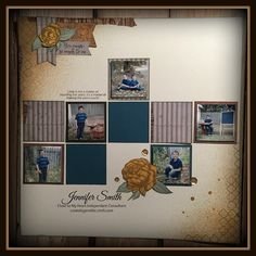 January 2016: Beloved Bouquet combined with Urban paper to create this scrapbook layout.