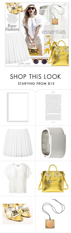 """""""White & gold"""" by goreti ❤ liked on Polyvore featuring Bomedo, McQ by Alexander McQueen, Furla, Frame Denim, Sophie Hulme, Manolo Blahnik, Reed Krakoff, Smoke x Mirrors, TrickyTrend and polyvoreeditorial"""