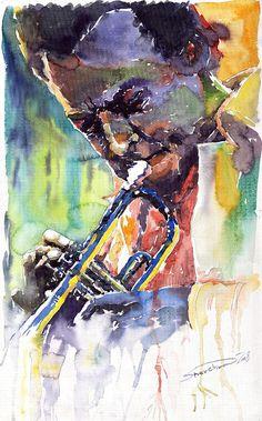Jazz Miles Davis 9 Blue Painting