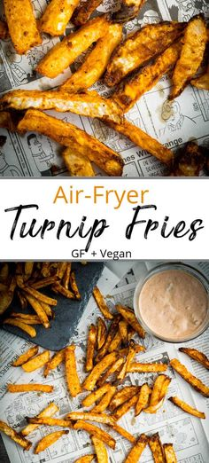 Crispy Turnip Fries - a healthier twist on a traditional french fry made with nutrient-rich, low-carb turnips and roasted in an air fryer or convection oven. Air Fryer Dinner Recipes, Air Fryer Recipes Easy, How To Cook Turnips, Turnip Fries, Roasted Turnips, Turnip Recipes, Cooks Air Fryer, Veggie Delight, Air Fryer Healthy