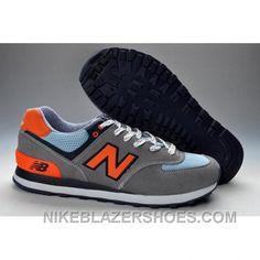 4c15e1025efb New Arrival Balance 574 Mens Orange Grey Blue Shoes
