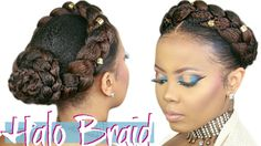 HOW TO | FAUX HALO BRAID TUTORIAL| CROWN BRAID W/ KANEKALON HAIR| 4C NATURAL HAIRSTYLE | TASTEPINK - YouTube