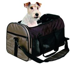 Trixie 28873 'Samira' Bag Nylon 31 ? 32 ? 52 cm Brown / Beige >>> Click on the image for additional details. (This is an affiliate link) #CatCagesCratesandCarriers