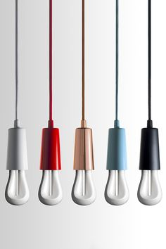 Plumen 002 designer light bulb in Plumen Drop Cap Pendants