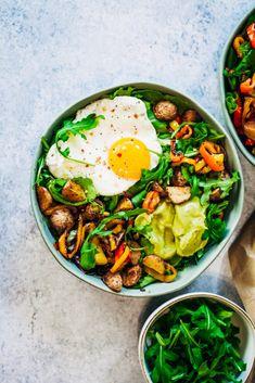 Guacamole Breakfast Bowl | Well and Full | #healthy #vegetarian #recipe