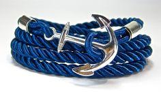 Anchor Braided Wrap Bracelet from Geralin Gioielli by DaWanda.com