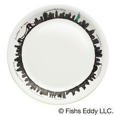 オリジナルプレート 〔サイズ〕直径約21㎝     〔素 材〕陶磁器【ミスタードーナツ】『FISHS EDDY(フィッシュズエディ) オリジナルマグ』と『FISHS EDDY オリジナルプレート』を発売|ダスキンのプレスリリース