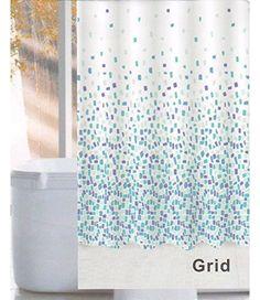 Linenwalas Grid Design Water Repellent Bathroom Shower Cu… Grid Design, Bathroom Essentials, Bathroom Shower Curtains, Home Kitchens, Water, Gripe Water, Kitchen