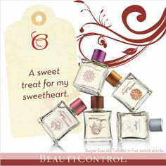 A sweet treat for your sweet Valentine BeautiControl Sugar Eau de Toilettes in 5 delectable fragrances. Shop now www.beautipage.com/bcspasbyangie #Valentine #beauticontrolsugar  #Gifts
