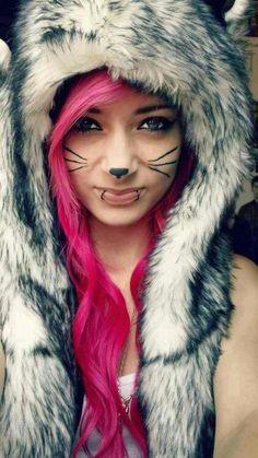 Spirit hood +Pink hair= Awesomeness