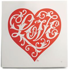 House Industries, Serigraph, House Love Heart Serigraph