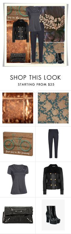 """""""pack and go for Labor Day"""" by peeweevaaz ❤ liked on Polyvore featuring Designers Guild, Primitives By Kathy, Jaeger, Under Armour, Balmain, Balenciaga and Yves Saint Laurent"""