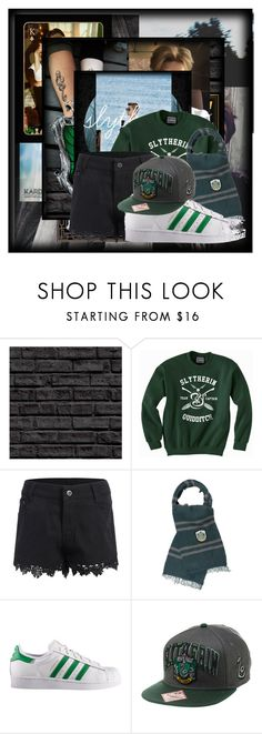 """""""slytherin"""" by claytonz ❤ liked on Polyvore featuring Nana', Elope and adidas"""