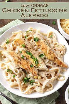 Fettucine Alfredo, Chicken Fettuccine, Food Map Diet, Fodmap Recipes, Fodmap Foods, Low Fodmap, Dinner Recipes, Turkey Recipes, Pasta Recipes
