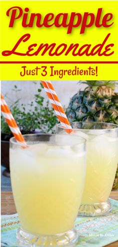 Pineapple Lemonade is an easy and delicious drink for any time of year. A fun twist on classic lemonade for all of your parties, baby showers, holidays and fun get togethers. The perfect party punch for kids and adults! for kids Hawaiian Drinks, Pineapple Drinks, Pineapple Lemonade, Pineapple Punch, Hawaiian Punch, Drinks Alcoholicas, Easy Alcoholic Drinks, Summer Drinks, Kid Party Drinks
