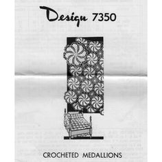 This pretty pinwheel medallion crochet pattern can be made in two different sizes with a small joining medallion.   Join them to form bedspreads, cloths and more.