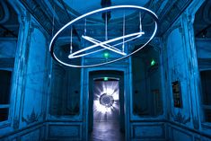Circular and Kinetic Light Installation by WHITEvoid.