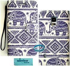 Wireless Fones Tm Samsung Galaxy S5 Active Elephant on Blue Tribal Aztec Wallet Case (NOT FOR S5 , S5 MINI) wireless fones http://www.amazon.com/dp/B00P4OY92M/ref=cm_sw_r_pi_dp_-HXvvb1JWSMPW