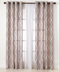 Elrene Medalia Window Treatment Collection - Fashion Window Treatments - for the home - Macy's Curtains For Double Windows, Curtains For Bedroom Window, Living Room Window Treatments, Living Room Curtains, Curtain Ideas For Living Room, Window Blinds, Living Room Windows, House Windows, Door Curtains