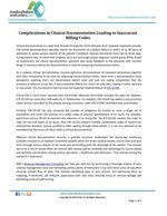 Complications in Clinical Documentation Leading to Inaccurate Billing Codes