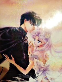 Princess Serenity & Prince Endymion from Pretty Guardian Sailor Moon Manga Sailor Moon Sailor Stars, Sailor Moon Manga, Arte Sailor Moon, Sailor Moon Cosplay, Sailor Scouts, Princesa Serenity, Sailor Moon Kristall, Neo Queen Serenity, Sailor Moon Wallpaper