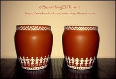 Hand painted worli pots
