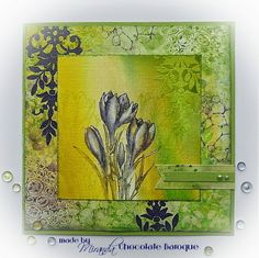 Chocolate Baroque Design Team: A lovely little Crocus.by Miranda Baroque Design, Baroque Art, Art Van, Art Journal Techniques, Tag Design, Types Of Art, Mixed Media, Card Making, Paper Crafts