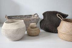 Deko-Ideen mit Körben → Geflochtene Körbe für alle Räume  #Deko #Wohnen #Körbe #Einrichtung