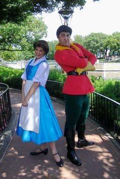 Belle and Gaston out and about - I wish Gaston was in Disneyland.