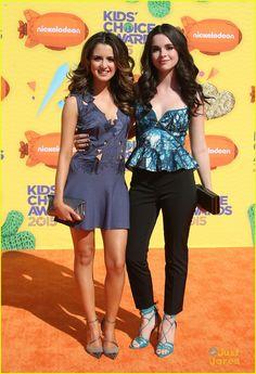 Laura Marano and Vanessa Marano at the Kids Choice Awards 2015