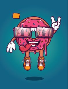 Donut Guy! by Levi Strauss, via Behance