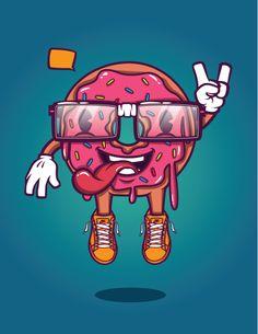 Donut Guy! by Levi Strauss, via Behance