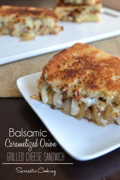 Balsamic Caramelized Onion Grilled Cheese Sandwich