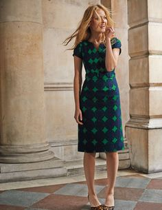 Yasmin Dress WH741 Day at Boden - love the leopard pumps!
