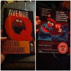 #Troggg and Larrikin Puppets in the #AvenueQ show programme for providing puppet training in the show. #AvenueQBNE