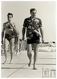 Mohamed Reza Pahlavi At Miami Beach 1955.................http://www.pinterest.com/madamepiggymick/arab-royalty-iran/