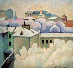 Urban winter landscape - Ilya Mashkov