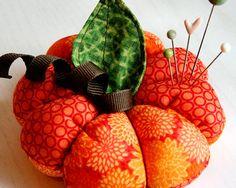 Sewn Pumpkin Pincushion  -  I can always use another pin cushion.