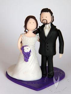Brautpaar für die Hochzeitstorte - Tortenfigur für die Hochzeit - Weddingcake - Weddingtopper - Caketopper