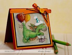 Thoughts of a Cardmaking Scrapbooker!: Guest Designer for Whimsy Stamps! Fantasy Mermaids, Dragon Party, Whimsy Stamps, Kids Cards, Cardmaking, Birthday Cards, Birthdays, Fairy, Crafty