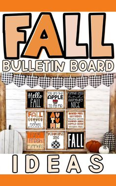 Make decorating your classroom for Fall super easy with these bulletin board ideas! Holiday Bulletin Boards, Teacher Bulletin Boards, Inspirational Bulletin Boards, Fall Classroom Decorations, Pumpkin Candles, High School Classroom, Classroom Posters, Fall Pumpkins, Board Ideas