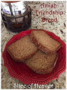 Slice of Heaven~~Amish Friendship Bread & Starter Directions! Friendship Bread Starter, Amish Friendship Bread, Amish Bread, Copycat Recipes, Banana Bread, Bakery, Heaven, Breakfast, Desserts