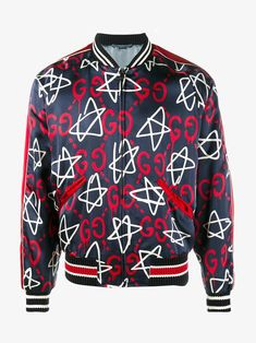 GUCCI GUCCIGHOST STAR BOMBER JACKET. #gucci #cloth #