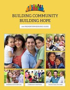 Cover of 2016 Prevention Resource Guide, Building Community Building Hope