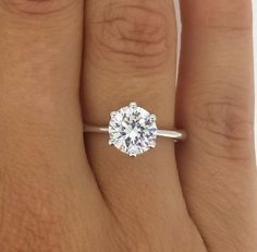 2.00 CT ROUND CUT VS DIAMOND SOLITAIRE ENGAGEMENT RING 14K YELLOW GOLD in Jewelry & Watches, Engagement & Wedding, Engagement Rings | eBay #weddingring