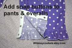 Little Amy started crawling, so I wanted to make something that would cover her diaper without being tight at her waist. It is summer her...